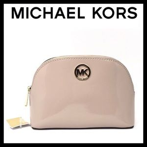 Michael Kors Fulton Patent Leather Cosmetic Pouch